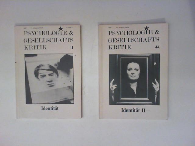 Großmann, Ruth u.a. (Hg.): Psychologie & Gesellschaftskritik 11. Jahrgang Heft 1 und 4 (Nr. 41 und 44): Identität und Identität II.