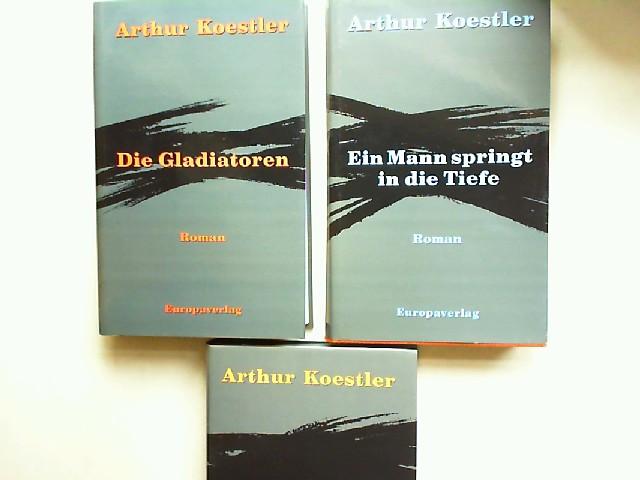 Koestler, Arthur: Arthur Koestler - drei Bände im Schuber zusammen: Ein Mann springt in die Tiefe; Sonnenfinsternis; Die Gladiatoren.