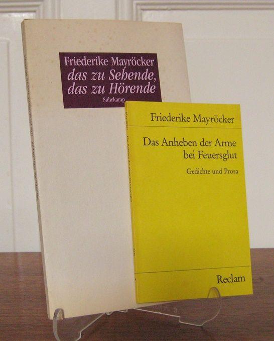Mayröcker, Friederike: 2 Bände: Das zu Sehende, das zu Hörende. / Das Anheben der Arme bei Feuerglut. Gedichte und Prosa. [Zweiter Band: Reclam Universal-Bibliothek, Bd. 8236].