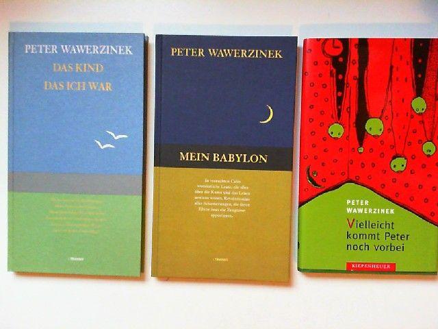 Wawerzinek, Peter: 3 Bücher zusammen - Peter Wawerzinek: 1) Das Kind, das ich war. 2) Mein Babylon. 3) Vielleicht kommt Peter noch vorbei.