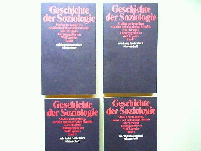 Lepenies, Wolf (Hrsg.): Geschichte der Soziologie. Studien zur kognitiven, sozialen und historischen Identität einer Disziplin - Band 1 bis 4 im Schuber zusammen. [Suhrkamp-Taschenbuch Wissenschaft stw 367]