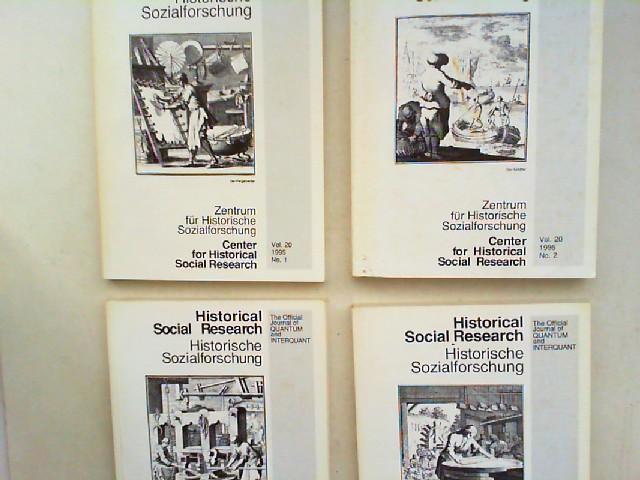Zentrum für Historische Sozialforschung (Hg.) Heinrich Best; Wilhelm H. Schröder und Stefan Immerfall; Peter Steinbach: Historical Social Research HSR. Historische Sozialforschung. The Official Journal of Quantum and Interquant. Jahrgang 1995 (Volume 2...