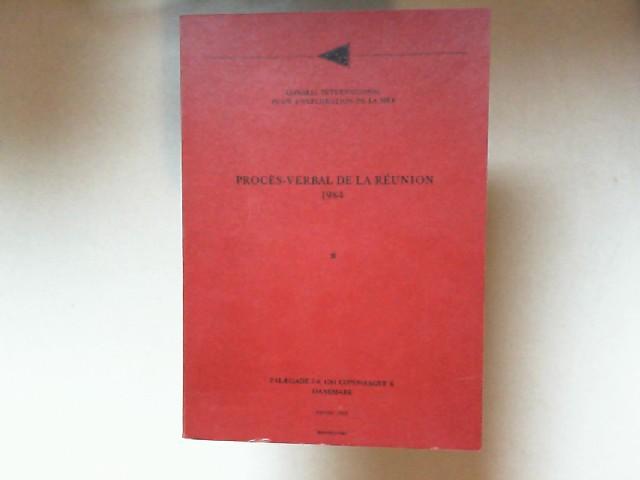 Conseil international pour l`exploration de la mer (Hrsg.): Procès-verbal de la réunion 1984.