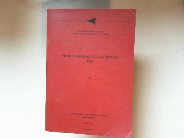 Conseil international pour l`exploration de la mer (Hrsg.): Procès-verbal de la réunion 1986.