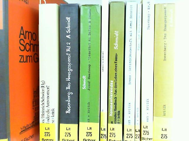"""Schmidt, Arno und Jörg Drews (Hg.); Josef Huerkamp; Dieter Kuhn; Leibel Rosenberg; H. L. Arnold (Hg.); Heinrich Schwier (Hg.); Ernst Krawehl (Hg.): Sekundärliteratur zu Arno Schmidt - 10 Bücher zusammen: 1) """"Lilienthal oder die Astronomen."""" H..."""