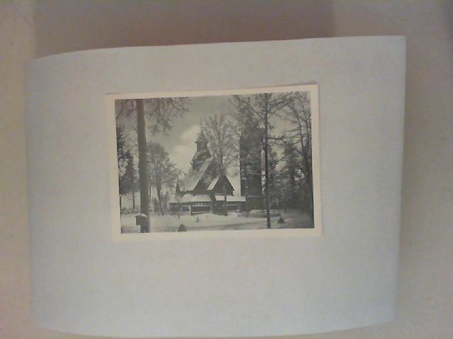 Wagner (Foto): Kirche Wang im Riesengebirge [schwarz-weiß-Postkarte]