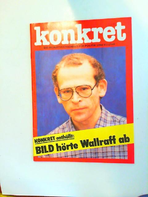 Gremliza, Hermann L. [Hrsg.]: Konkret. November 11/79. Die Monatszeitschrift für Politik und Kultur. Konkret enthüllt: BILD hörte Wallraff ab.