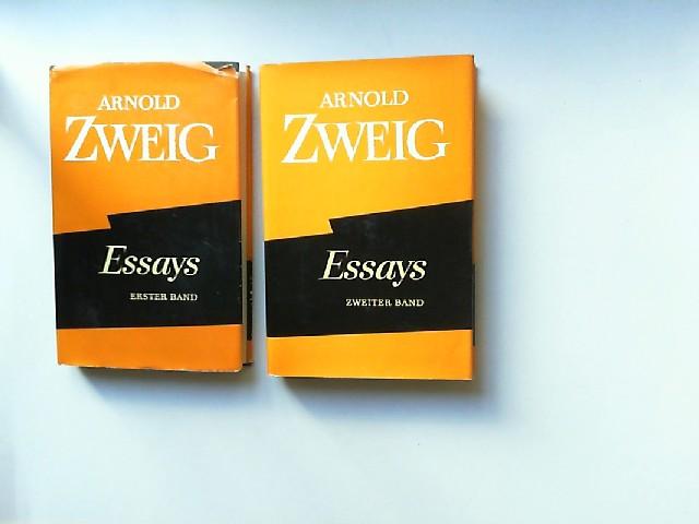 Zweig, Arnold: Essays. Erster Band: Literatur und Theater; zweiter Band: Aufsätze zu Krieg und Frieden. [Ausgewählte Werke in Einzelausgaben Band 15 & 16]