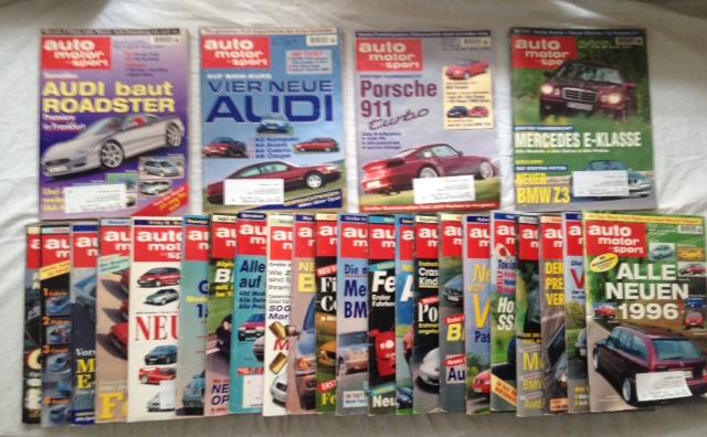 Pietsch, Paul (Hg.), Ludwig Vogel (Hg.) Helmut Luckner (Red.) u. a.: Auto Motor und Sport - kompletter Jahrgang 1986 (=26 Hefte).