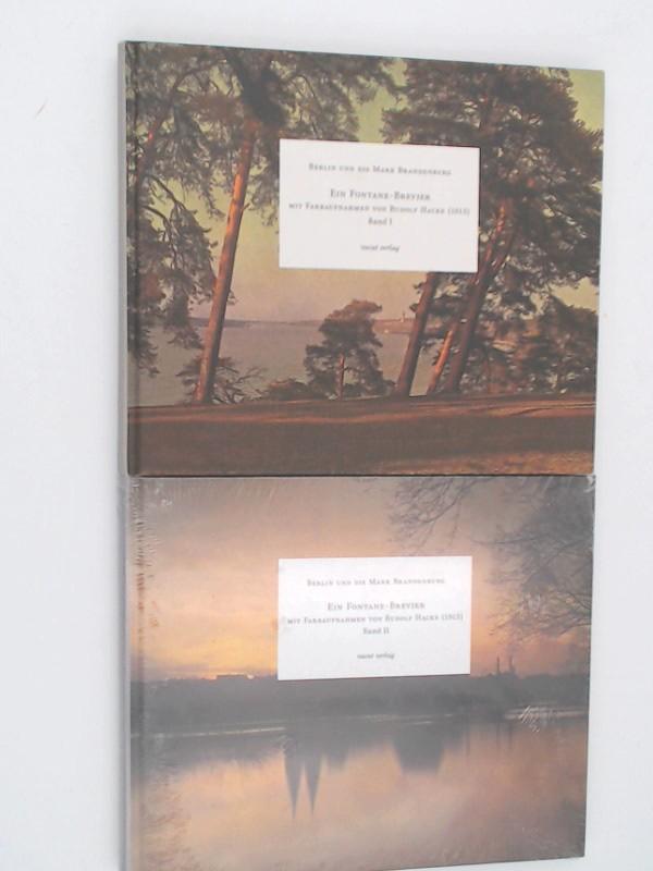 Walther, Peter (Hg.), Theodor Fontane und Rudolf Hacke (Ill.): 2 Bücher zusammen - Berlin und die Mark Brandenburg. Ein Fontane-Brevier. Mit Farbaufnahmen von Rudolf Hacke (1913). Band I und Band II.