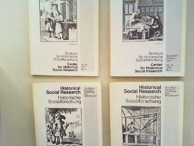 Zentrum für Historische Sozialforschung (Hg.) Heinrich Best; Wilhelm H. Schröder (Hg.) und Peter Horvath: Historical Social Research HSR. Historische Sozialforschung. The Official Journal of Quantum and Interquant. Jahrgang 1997 (Volume 22) komplett in...