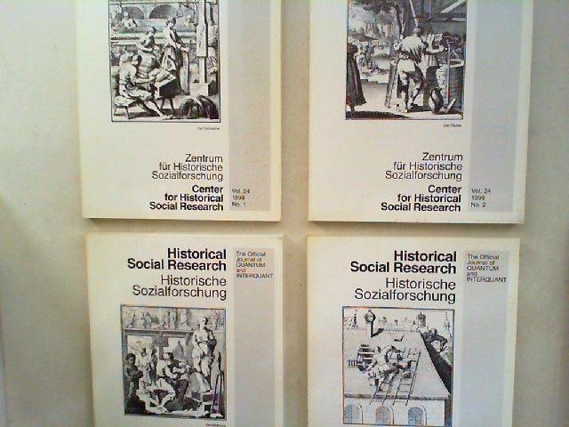 Zentrum für Historische Sozialforschung (Hg.) Heinrich Best; Wilhelm H. Schröder und Rüdiger Hohls (Hg.); Peter Helmberger (Hg.): Historical Social Research HSR. Historische Sozialforschung. The Official Journal of Quantum and Interquant. Jahrgang 1999...