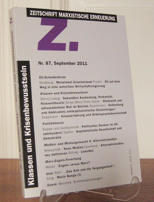 Forum Marxistische Erneuerung e.V. und IMSF (Hrsg.): Zeitschrift Marxistische Erneuerung. Nr. 87, September 2011. Klassen und Krisenbewusstsein.