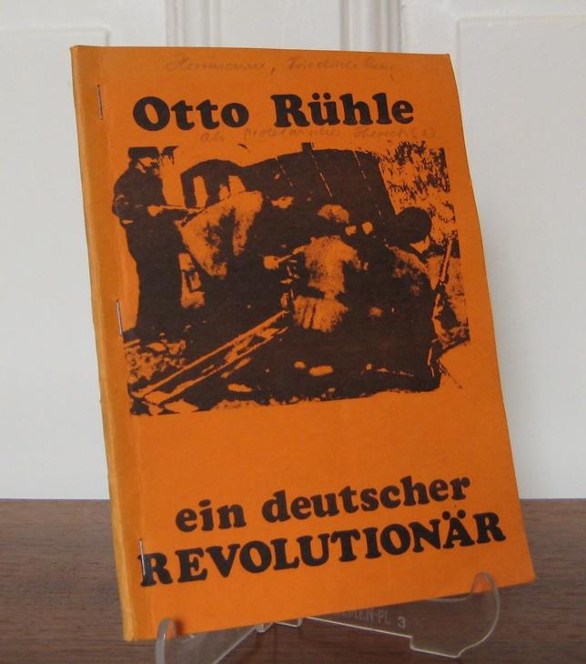 Herrmann, Friedrich Georg: Otto Rühle als politischer Theoretiker. Außentitel. Otto Rühle ein deutscher Revolutionär.