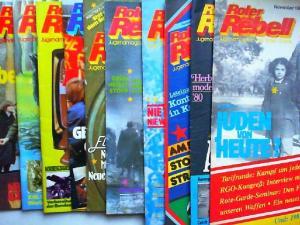 Zentralkomitee der Roten Garde (Hg.) und Norbert Taufertshöfer (Red.): Roter Rebell. Jugendmagazin der Roten Garde - Jahrgang 1980 fast vollständig bis auf Heft 12, zehn Hefte zusammen.