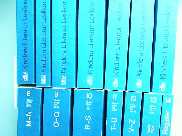 Einsiedel, Wolfgang von (Begründer), Gert Woerner und Rudolf Radler; Rolf Geisler: Kindlers Literatur Lexikon [Literaturlexikon] im dtv in 14 Bänden - 14 Bücher zusammen: Band 1: Essays; Band 2: A; Band 3: B - C; Band 4: D - E; Band 5: F - G; Band 6: H...