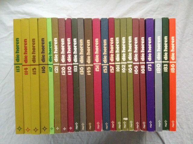 Morawietz, Kurt (Hg.) und Johann P. Tammen (Hg.): Die Horen. Zeitschrift für Literatur, Kunst und Kritik - Konvolut mit 23 Bänden. Vorhandene Ausgaben: 113/1979; 114/1979; 115/1979; 116/1979; 117/1980; 121/1981; 126/1982; 130/1983; 133/1984 (Reprint, 2...