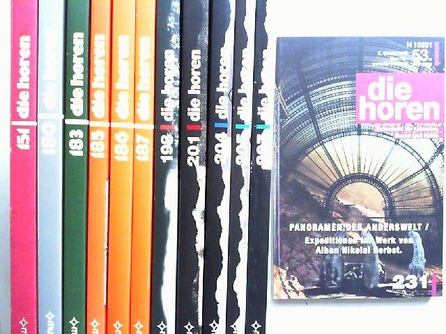 Morawietz, Kurt (Hg.) und Johann P. Tammen (Hg.): Die Horen. Zeitschrift für Literatur, Kunst und Kritik - Konvolut mit 12 Bänden. Vorhandene Ausgaben: 151/1988; 180/1995; 183/1996; 185/1997; 186/1997; 187/1997; 198/2000; 201/2001; 204/2001; 205/2002; ...