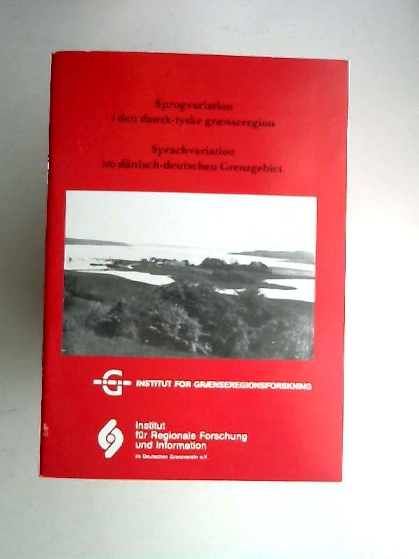 o.A: Sprachvariation im dänisch-deutschen Grenzgebiet. Sprogvariation i den dansk-tyske grænseregion. Konferancerapport Tagungsbericht 24. - 25. September 1987. Kalvø.