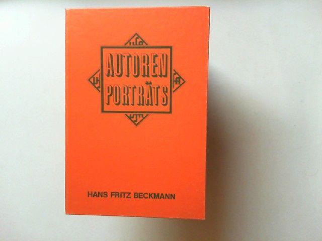 Beckmann, Hans Fritz: Autorenporträts: Hans Fritz Beckmann. 1 Tonkassette mit Beiheft.