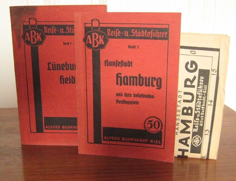 Burkhardt, Alfred (Hrsg.): 2 Bände: Hansestadt Hamburg und ihre beliebtesten Ausflugsziele (mit beiliegender Karte von Hamburg). / Lüneburger Heide. [ABK Reise- u. Städteführer, Bd. 3 und 7].
