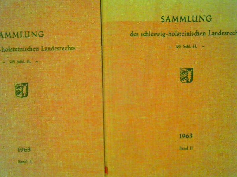 Innenminister des Landes Schleswig-Holstein (Hg.): 2 Bücher zusammen - Gesetz- und Verordnungsblatt für Schleswig-Holstein; Jahrgang 1964, ausgegeben in Kiel am 1. August 1964; Sonderdruck. Sammlung des schleswig-holsteinischen Landesrechts - GS Schl.-...
