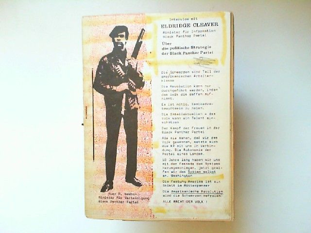Cleaver, Eldridge und John McGrath: Interview mit Eldridge Cleaver, Minister für Information Black Panther Partei. Über die politische Strategie der Black Panther Partei. (in Algier im Februar 1970, durch John Mc Grath von der Zeitung Black Dwarf)