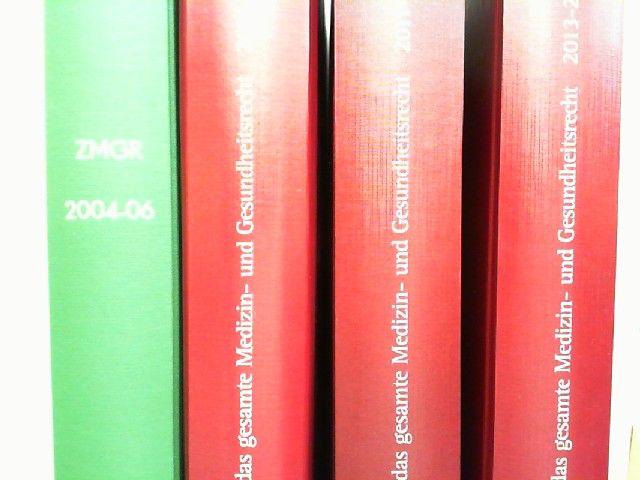 Geschäftsführender Ausschuss der Arbeitsgemeinschaft Medizinrecht im DAV (Hg.) und Bernd Luxenburger; Reinhold Preißler (Red.): Zeitschrift für das gesamte Medizin- und Gesundheitsrecht. ZMGR - vollständige Jahrgänge 2004 bis 2008 und 2011 bis 2014, in...