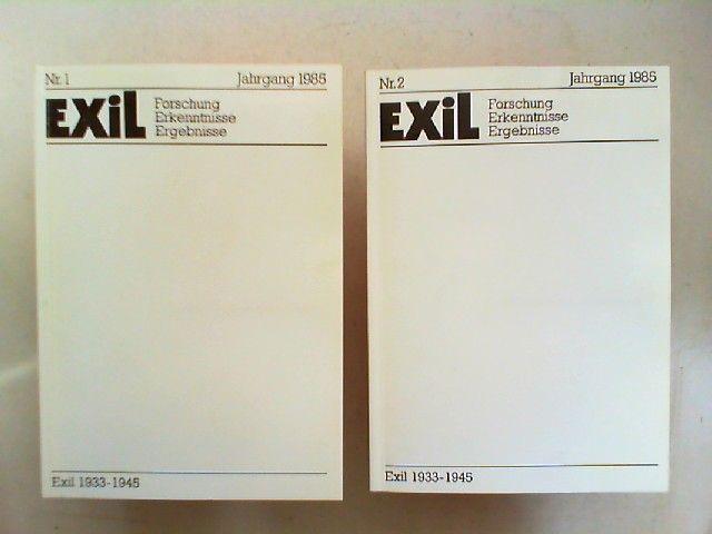 Koch, Joachim H. und Edita Koch (Hg.): Exil 1933 - 1945. Forschung, Erkenntnisse, Ergebnisse - V. Jahrgang 1985 vollständig in zwei Heften zusammen.