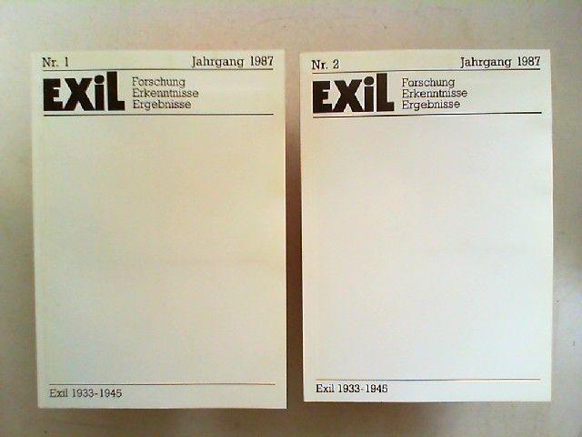 Koch, Joachim H. und Edita Koch (Hg.): Exil 1933 - 1945. Forschung, Erkenntnisse, Ergebnisse - VII. Jahrgang 1987 vollständig in zwei Heften zusammen.