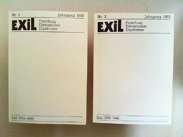 Koch, Joachim H. und Edita Koch (Hg.): Exil. Forschung, Erkenntnisse, Ergebnisse. 1933 - 1945 - XIII. Jahrgang 1993 vollständig in zwei Heften zusammen.