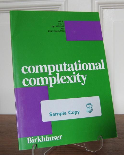 Gathen, Joachim von zur (Hrsg.): Computational complexity. Vol. 8, No. 4, pp. 309 - 392.