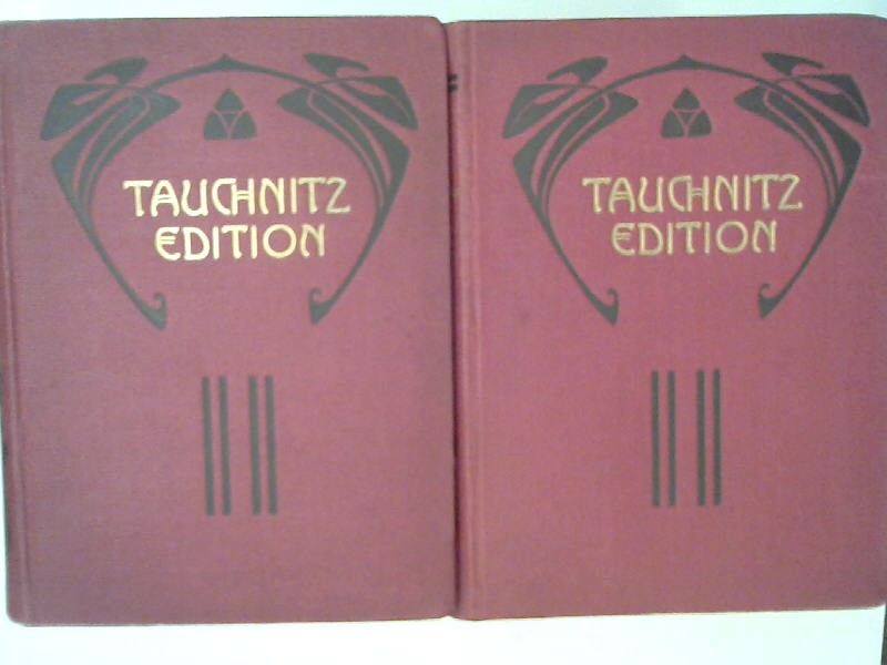 Dickens, Charles: 2 Bände zusammen - Charles Dickens. A Tale of Two Cities: 1) Volume 1; 2) Volume 2. [Collection of British authors. Tauchnitz edition, vol. 479 u. 480]