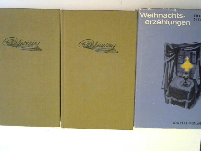 Dickens, Charles: 2 Bücher und 1 Zugabe - Charles Dickens: 1) Die Pickwickier. Die nachgelassenen Papiere des Pickwick Klubs. Erster Band; 2) Die Pickwickier. Die nachgelassenen Papiere des Pickwick Klubs. Zweiter Band; ZUGABE: Weihnachtserzählungen. [...