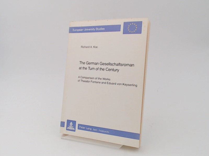 Koc, Richard A.: The German Gesellschaftsroman at the Turn of the Century: A Comparison of the Works of Theodor Fontane and Eduard von Keyserling. [European Universitiy studies. Series I; German Language and Literature. Vol. 542].