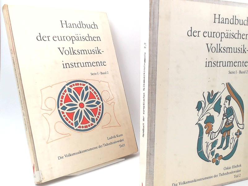 Kunz, Ludvik, Oskár Elschek und Ernst Emsheimer; Erich Stockmann (Hg.): Zwei Bände zusammen: Handbuch der europäischen Volksmusikinstrumente. Serie I. Band 2. Die Volksmusikinstrumente der Tschechoslowakei - Teil 1 und Teil 2.