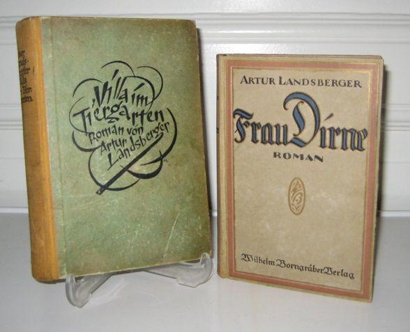 Landsberger, Artur: 2 Bände: Villa im Tiergarten. / Frau Dirne.