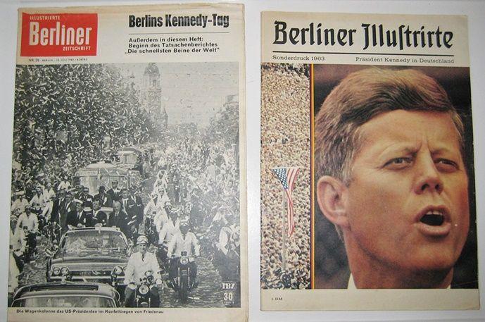 Illustrierte Berliner Zeitschrift und Berliner Illustrierte: 2 Ausgaben: Illustrierte Berliner Zeitschrift. Nr. 28, 13. Juli 1963. Berlins Kennedy-Tag. / Berliner Illustrierte. Sonderdruck 1963: Präsident Kennedy in Deutschland.