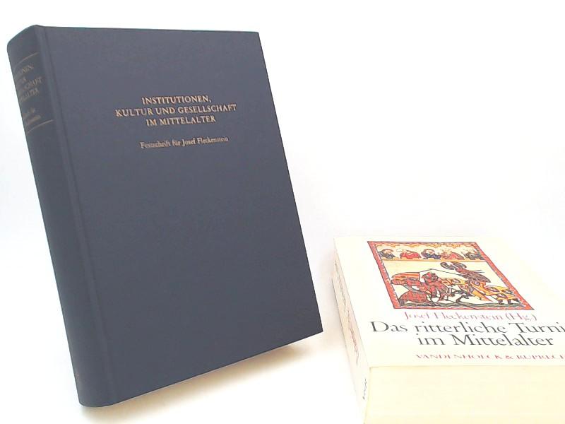 Fenske, Lutz (Herausgeber) und Josef Fleckenstein: Josef Fleckenstein - 2 Bücher zusammen: 1) Institutionen, Kultur und Gesellschaft im Mittelalter. Festschrift für Josef Fleckenstein zu seinem 65. Geburtstag; 2) Das ritterliche Turnier im Mittelalter....
