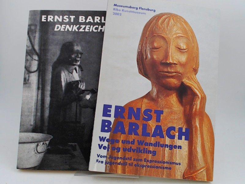 Barlach, Ernst: 2 Bücher zusammen - 1) Ernst Barlach. Denkzeichen. Eine Ausstellung im Schleswig-Holsteinischen Landesmuseum Schloß Gottorf-Schleswig. 12.2. bis 9.4.1989; 2) Elisabeth Laur/ Volker Probst (Hg.): Ernst Barlach. Wege und Wandlungen. Vom J...