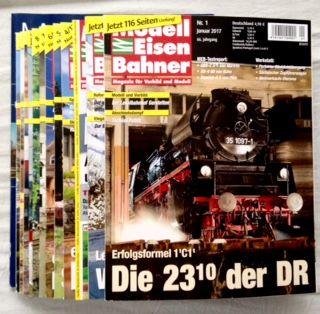 Wolfgang, Schuhmacher (Hg.) und Bahn GmbH Verlagsgruppe: Modelleisenbahner. Magazin für Vorbild und Modell - vollständiger Jahrgang 2017 (66. Jahrgang) mit einer ZUGABE: Modellbahn Schule Nr. 35 (13 Hefte zusammen).