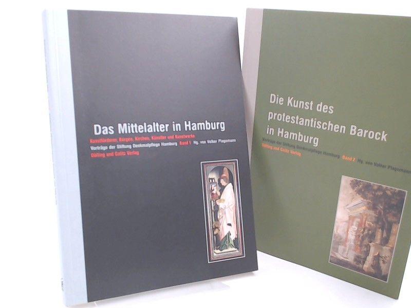 Plagemann, Volker (Hg.): 2 Bücher zusammen: Vorträge der Stiftung Denkmalpflege Hamburg Band 1 und 2: 1) Das Mittelalter in Hamburg. Kunstförderer, Burgen, Kirchen, Künstler und Kunstwerke; 2) Die Kunst des protestantischen Barock in Hamburg.