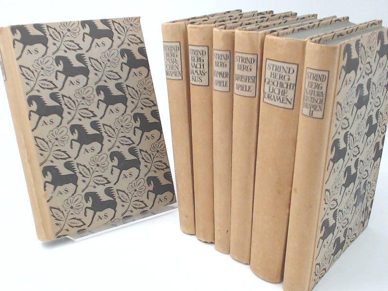 Strindberg, August und Else von Hollander (Übersetzung): August Strindberg - Ausgewählte Dramen in sieben Bänden - vollständig 7 Bücher zusammen: 1) Märchendramen; 2) Nach Damaskus; 3) Naturalistische Dramen I; 4) Naturalistische Dramen II; 5) Geschich...