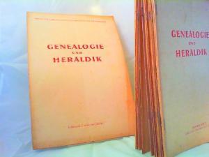 Geßner, Gerhard (Hg.) und Johannes Krauße (Schriftleitung): Genealogie und Heraldik. Archiv (Zeitschrift) für Familiengeschichtsforschung und Wappenwesen - vollständig von Heft 7 / Jahrgang 1 (April 1949) bis Heft 1-2 / Jahrgang 3 (Januar, Februar 1951...