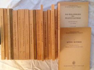 Leitzmann, Albert (Hg.), Friedrich Panzer; Friedrich Maurer; Hiltgunt Monecke; Hermann Paul; Bernard Standring; Karl Helm; Ulrich Pretzel; Edmund Wiessner; Viktor Dollmayer; (Hg.) und Walther von der Vogelweide; Hartmann von Aue; Wernher dem Gartenaere; W