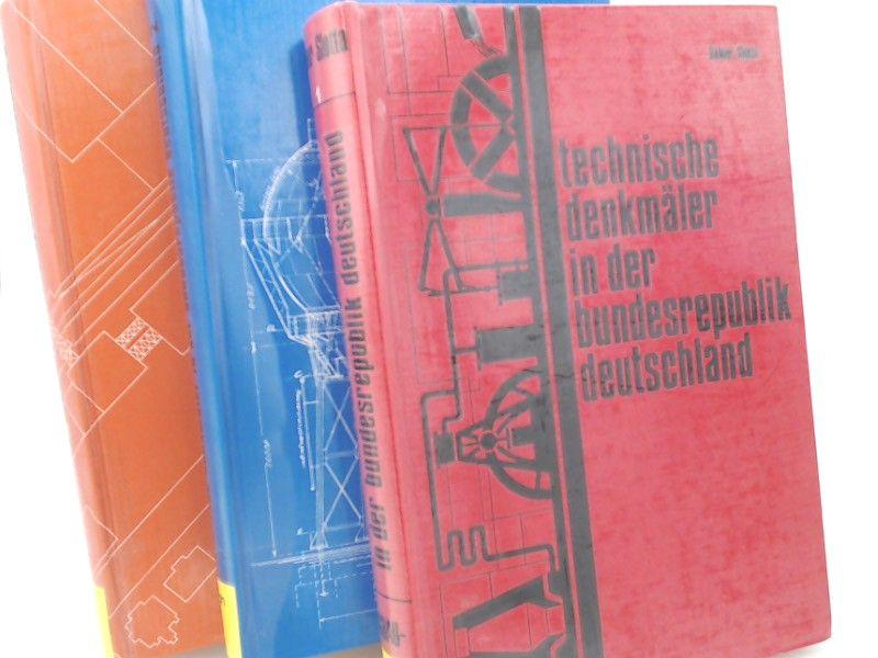 Slotta, Rainer und Bergbau-Museum Bochum (Hg.): 3 Bücher zusammen - Technische Denkmäler in der Bundesrepublik Deutschland: Erster Band; Zweiter Band: Elektrizitäts-, Gas- und Wasserversorgung, Entsorgung; Dritter Band: Die Kali- und Steinsalzindustrie...