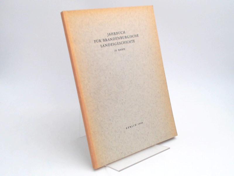 Küchler, Gerhard (Hg.) und Werner Vogel (Hg.): Jahrbuch für Brandenburgische Landesgeschichte. 20. Band 1969.