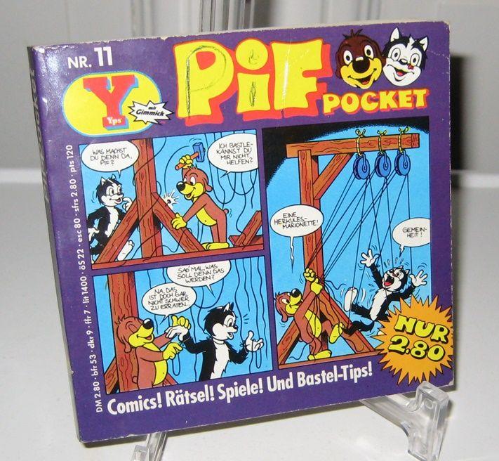 Vogt, Renate und Daniel Gerber: Yps Pif-Pocket Nr. 11. Comics! Rätsel! Spiele! Und Bastel-Tips!