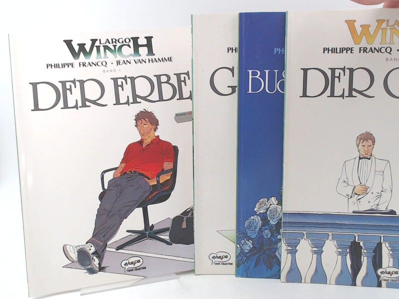 Francq, Philippe und Jean van Mamme: Largo Winch - Band 1 bis 4 zusammen: Band 1: Der Erbe; 2: Gruppe W; 3: Der Coup; 4: Business Blues. [Ehapa Comic Collection]