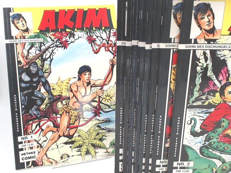 Pedrazza, Augusto: Akim. Sohn (Herr) des Dschungels. Sammlerausgabe - vollständig Band 1 bis 10 zusammen. [Hethke Comic]